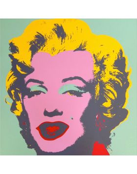 Marilyn Monroe-Pink On Green 11.23 print by Andy Warhol