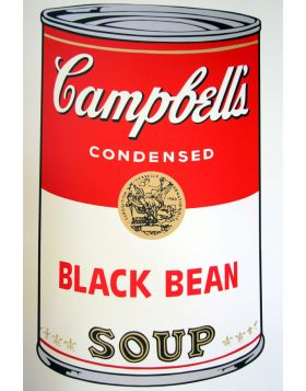 Campbell's Soup Black Bean - screen print by Andy Warhol