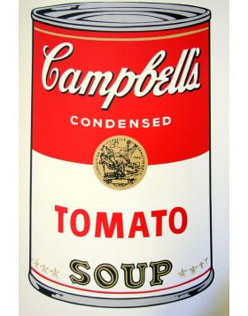 Campbell's Soup Tomato - silkscreen by Andy Warhol