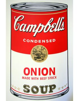 Campbell's Soup Onion - silkscreen by Andy Warhol