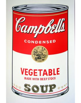 Campbell's Soup Vegetable - silkscreen by Andy Warhol