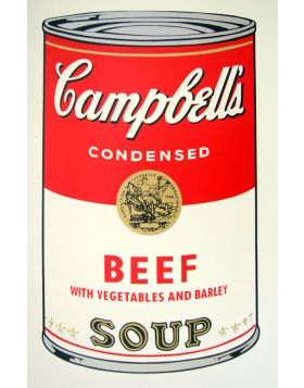 Campbell's Soup Beef - artwork by Andy Warhol