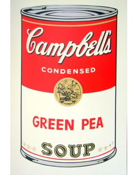 Campbell's Soup Green Pea - silkscreen by Andy Warhol