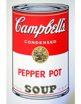 Campbell's Soup Pepper Pot - silkscreen by Andy Warhol