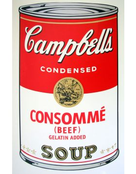 Campbell's Soup Consommè Beef - silkscreen by Andy Warhol