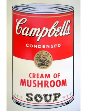 Campbell's Soup Cream of Mushroom - silkscreen by Andy Warhol