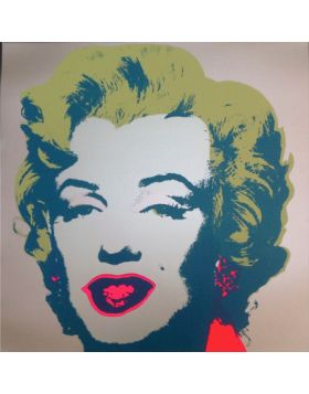 Marilyn Monroe-Blue On Gray 11.26 print by Andy Warhol