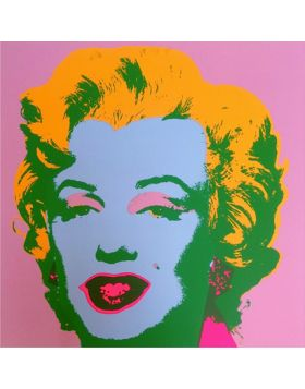 11.28 MARILYN MONROE - BLONDE ON PINK - silkscreen by Andy Warhol