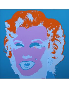 Marilyn Monroe-Purple/ Blue 11.29 print by Andy Warhol