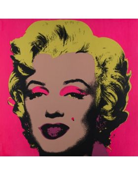 MARILYN MONROE - BLONDE ON PINK 11.31 - print Andy Warhol