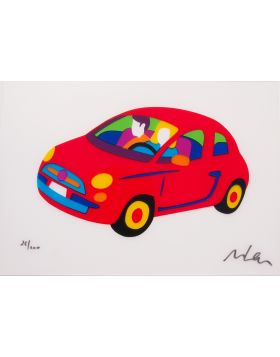 Fiat 500 Fluo-Red