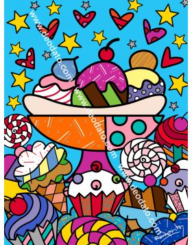 Dylan's candy bear - Romero Britto