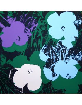 Flowers-Purple/Green 11.64 - silkscreen by Andy Warhol