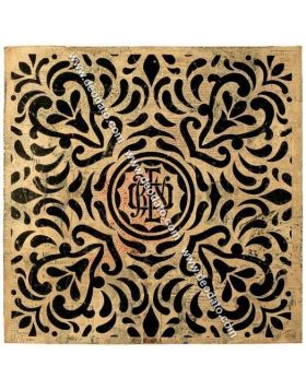 Monogram pattern black