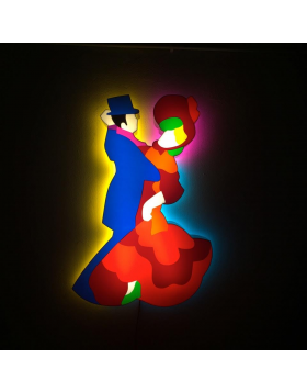 Vintage Dancers - light sculpture