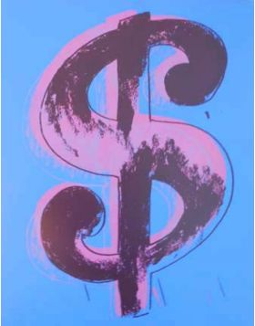 DOLLAR - Silkscreen by Andy Warhol
