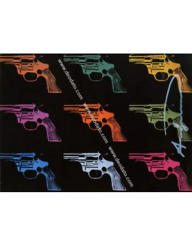 Colored Guns - Andy Warhol
