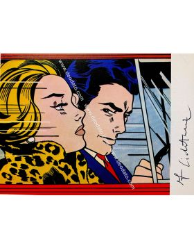 In the car - Roy Lichtenstein