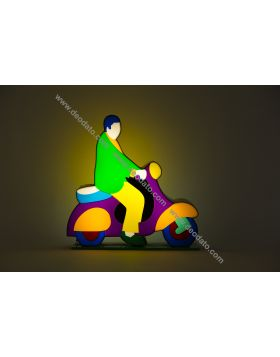 Vespa - light sculpture