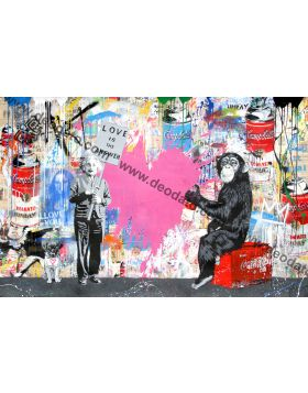 Mixed Wall - Mr Brainwash