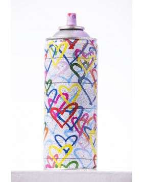 Mr Brainwash - Spray can - Heart Stencil