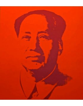 Mao Red - print by Andy Warhol