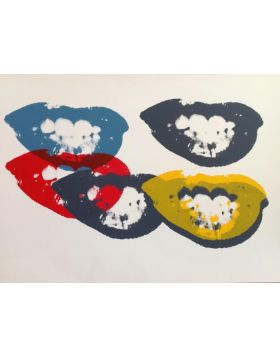 I LOVE YOUR KISS FOREVER - Silkscreen by Andy Warhol