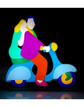 Lovers abroad Vespa - Light sculpture