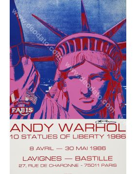 Liberty - artwork signed in original by Andy Warhol
