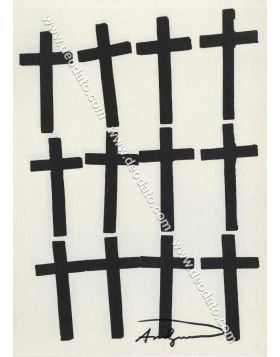 Crosses - artwork signed in original by Andy Warhol
