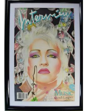 Cindy Lauper, cover Interview Magazine di Andy Warhol