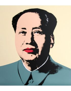 MAO YELLOW - Print by Andy Warhol