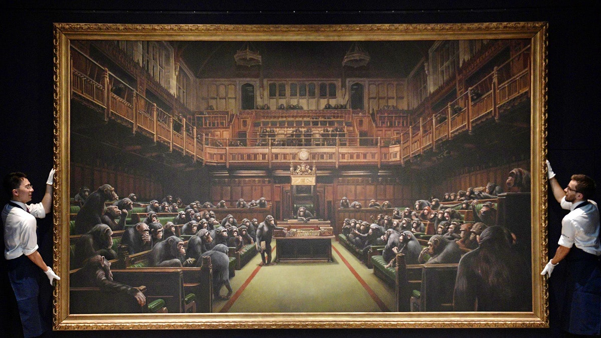 Banksy - Devolved Parliament Record At Auction - 11 Millions Euro