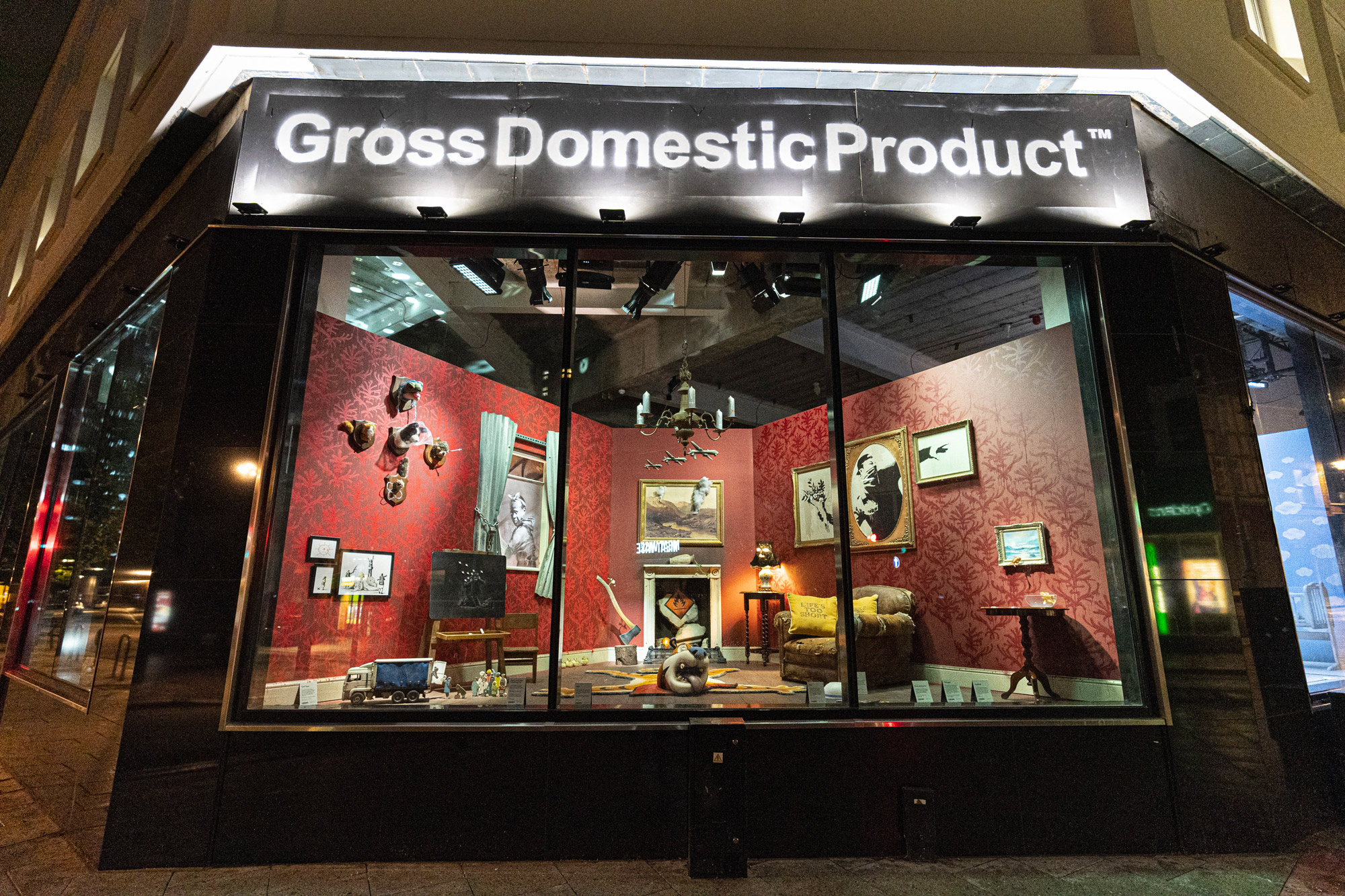 "Banksy opens the""Gross Domestic Product"""