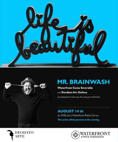 Invitation Mr.Brainwash at Porto Cervo