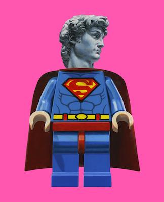 David Superman - opera di Josè molina in vendita presso la Galleria Deodato Arte