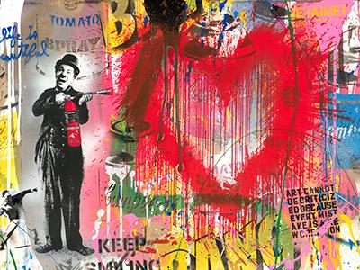 Spray Love - opera di Mr Brainwash in vendita presso la Galleria Deodato Arte