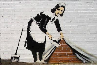 Banksy work - Sweep It Under the Carpet