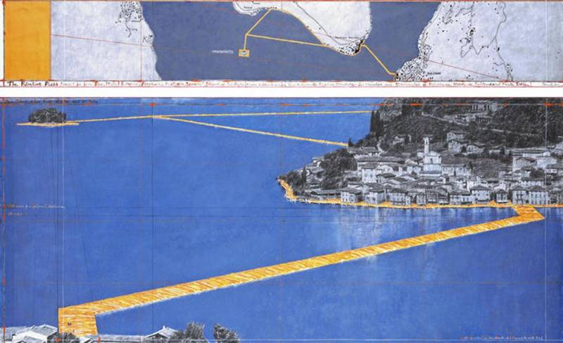 The Floating Piers of Christo on Iseo Lake